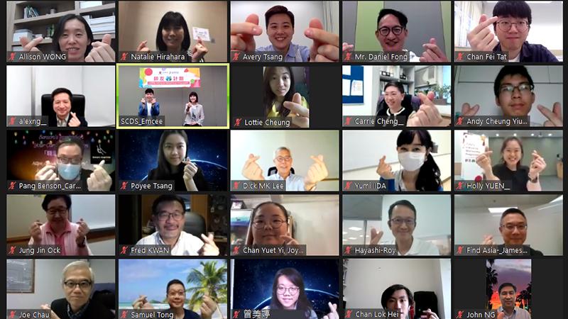 人生導師與學生透過螢光幕聚首一堂