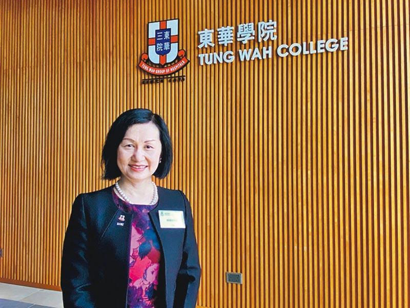 東華學院校長陳慧慈稱,學校近年收生持續增長,本學年收生「逆市上升」,稱學校開辦的醫療相關課程符合社會需要。
