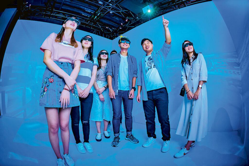 ▲恒大設有「虛擬實境中心」,為不同學科提供虛擬實境(VR)及擴增實境(AR)設施輔助學習。