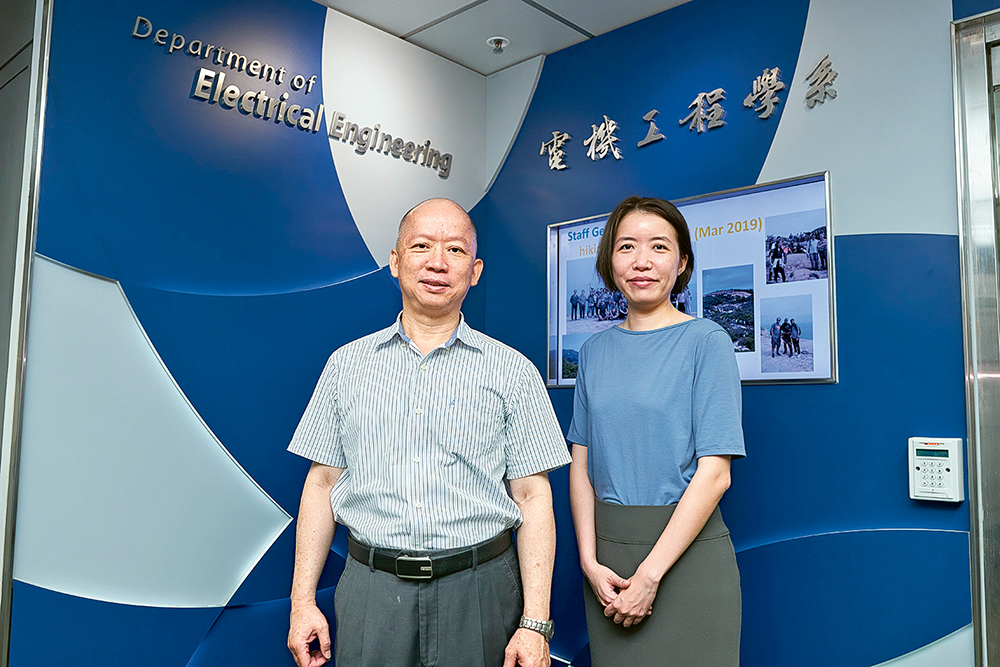 陸貴文教授(左)和陳皓敏博士指,電機工程學涵蓋範圍廣,與新科技更是息息相關,適合不同興趣的學生修讀。